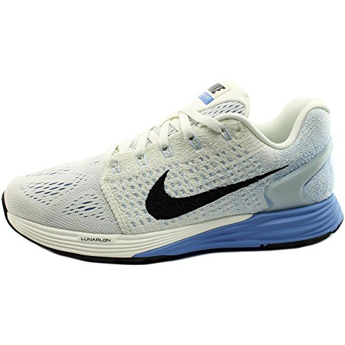 Nike Lunarglide 7, Chaussures de Running Compétition Femme Blanco (Sail / Black-Chalk Blue-Pr Pltnm)
