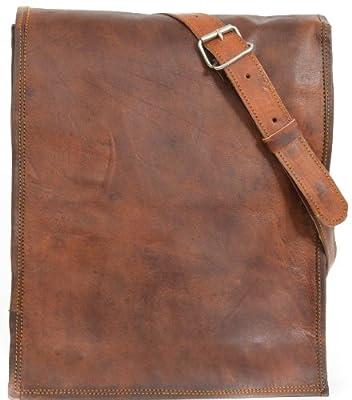 Gusti Leder M3 - Bolso bandolera de estilo vintage (piel), color marrón
