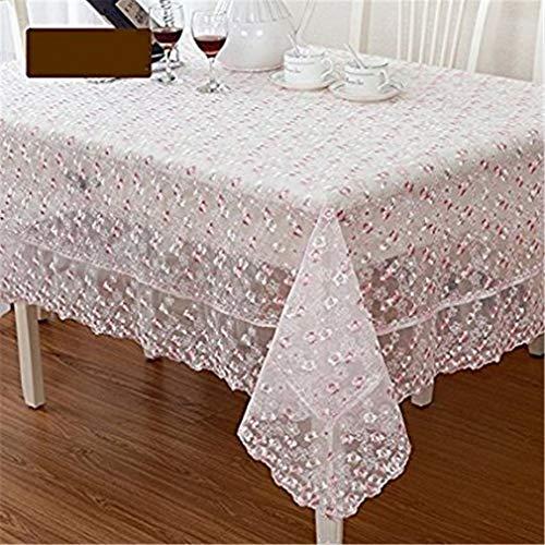 Tuhaxz Kleine Blumen bestickte Tischwäsche Sweet Vintage Floral Lace Tischdecke