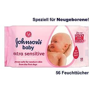 Lingettes bébé de Johnson extra sensible 56 par paquet