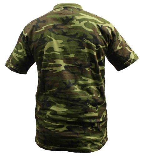 Dallaswear Herren T-Shirt, Camouflage, Militär-Design, Größen S-3XL - - Woodland - Größe L -