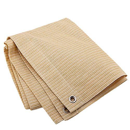LJFPB Vela Parasole 85% di Tasso di Ombreggiatura Bordo Legato con Gommini Rete Resistente ai Raggi UV for Baldacchino Pergolato (Color : Beige, Size : 1x4m)