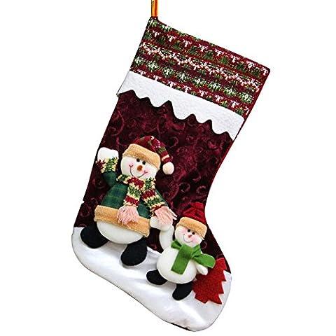 PanDaDa Weihnachtsstrümpfe Weihnachtsmann Schneemann Rotwild nette Süßigkeits Geschenk Beutel Weihnachtsbaum hängende Verzierungen Dekor