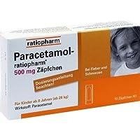 Paracetamol-ratiopharm 500 mg Zäpfchen, 10 St. preisvergleich bei billige-tabletten.eu