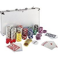 Ultimate Pokerset con 300 chips láser de alta calidad de 12 gramos núcleo de metal , incluyendo póker, set, fichas de póquer, maletas, fichas