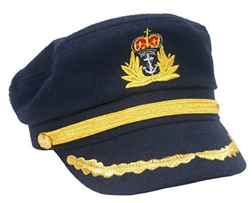 ütze Matrosenmütze Schiffermütze Yachtmütze Nautisch Schirmmütze Ente Zunge Marineblau (Sea-themen-kostüme)