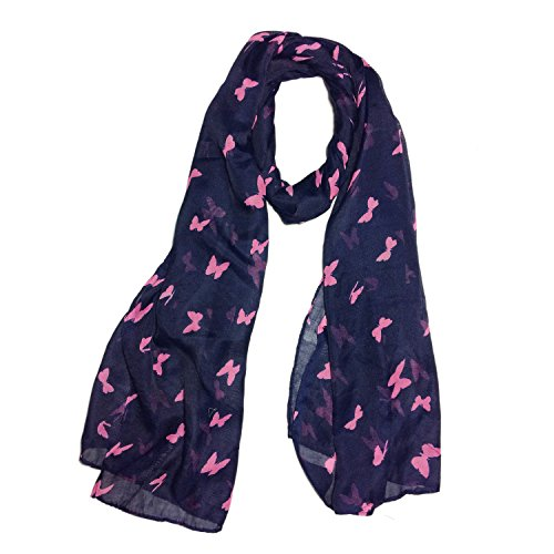 Clapcart Butterfly Designer Printed Scarf and Stoles Chiffon Multicolored for Girls / Ladies / Women - Clapcart-S030  available at amazon for Rs.99
