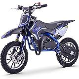 Renegade 50R 49cc Petrol Kids Mini Dirt Bike Moto Cross Scrambler - Blue