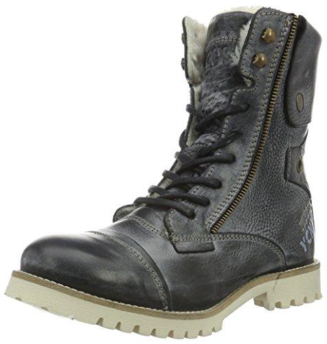 Yellow Cab Damen Soldier Eva W Biker Boots, Schwarz (Black), 38 EU