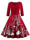 Babyonlinedress Vestido de fiesta a las rodillas estilo casual vintage unicolor y elástico talla 2xl