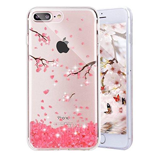 iPhone 8 Custodia iPhone 7 Cover JAWSEU Moda nuovo Arte Ricamo