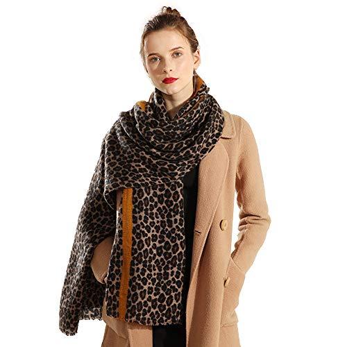 Superora Bufanda Para Mujer Chal Foulard Estampado de Leopardo Manta Grante Pañuelo Larga Grueso Invierno Elegante Moda Larga Grante Corta Suave con rayas