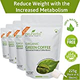 Neuherbs Organic Green Coffee Beans for Weight Management 200g+25g Free (Pack of 4)