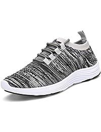KOUDYEN Basket Femme Homme Chaussures de Sport Lacets Fitness Confortable  Basses Basquettes Chaussure Running 3d832451181