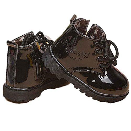 Baby Schuhe Clode® Winter Baby Jungen Mädchen Kind Armee Art Martin Aufladungs warme Schuhe Schwarz