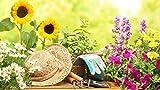 49 teiliges Gartenwerkzeugset mit Korb und Tasche -