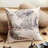 POPRY Inchiostro Cinese Pittura paesaggio Nap Ufficio cuscino divano cintura di cuscini cuscino cuscino per automobile45x45cm [manicotto Core]C