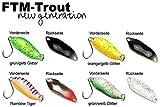 4 FTM Spoon Strike 2,1g - Blinker zum Spinnfischen auf Forelle, Forellenblinker zum Angeln am Forellensee, Forellenköder