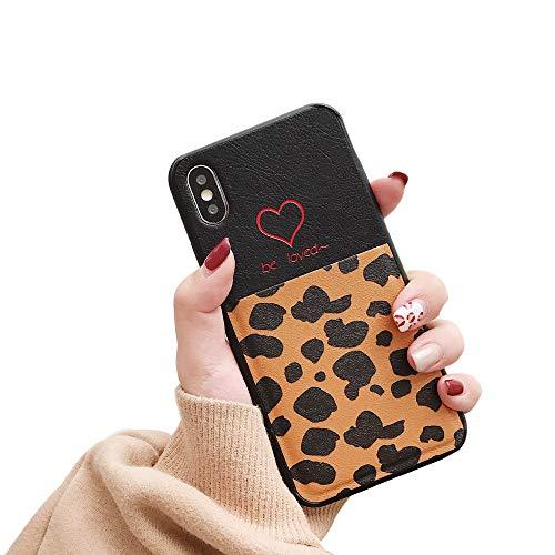 ZYWIGS Leopard Texture Wallet Case für iPhone 8 7 6 Plus - Kartenetui aus Kunstleder, ultraflacher Deckel,Brown,iphone7/8plus Flip Lock Wallet