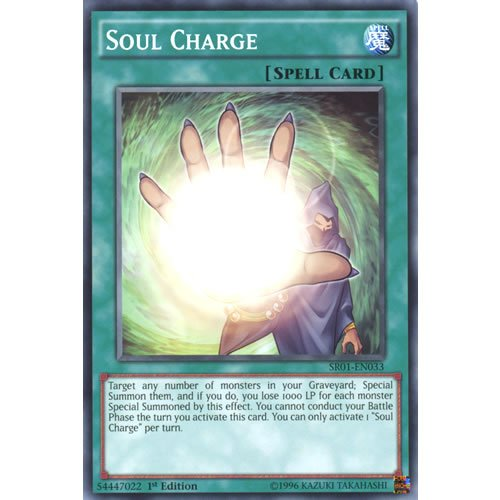 YuGiOh : SR01-EN033 1st Ed Soul Charge Common Card - ( Emperor of Darkness ) by Deckboosters