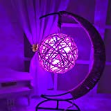 Yaojiaju LED-Lampe, purpurrote Farbe LED-Retro Art-Schnur-kupferne runde Ball-Lichter für Festival-Beleuchtungs-Schlafzimmer (1pcs) LED