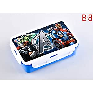 Pawan Plastic ski Spiderman Printed Lock and Fit Lunch Box for Boys and Girls (550ml)