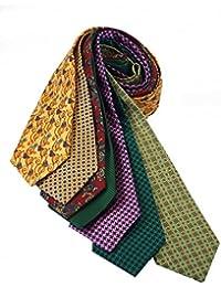 Cavenagh London (209D) Corbatas, 100% seda pura, fabricadas en Reino Unido, 7 unidades