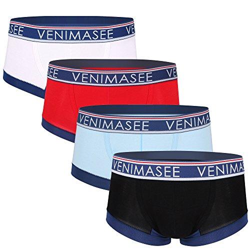 VENI MASEE® Sport Sexy Modal Atmungsaktive Herren Boxer Shorts Unterwäsche Trunks Multi-4pcsB