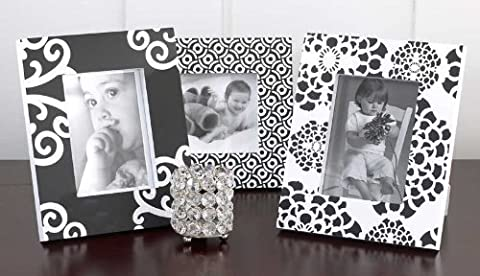 CoCaLo Elsa Picture Frame Set, Black/White, 3 Piece (Discontinued by Manufacturer) by CoCaLo