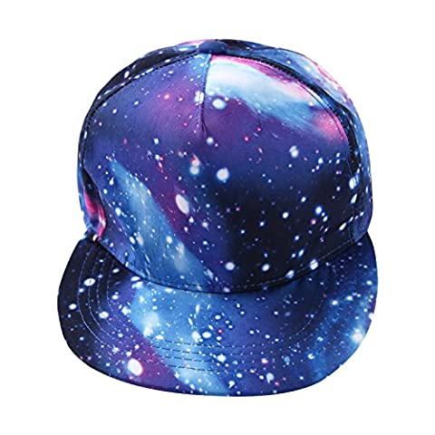 Eleery Fashion Hiphop Galaxy Printed Snapback Adjustable Peaked Baseball Hat