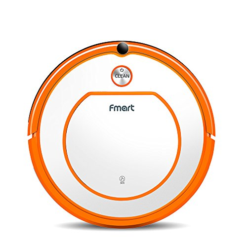 Fmart Staubsauger Roboter Vacuum Robot Boden Teppichreiniger mit fernbedienung YZ-Q2, Dry Wet Mop with Water Tank ,Robotic Clean for Pets Allergens Home, Trockener Nass-Mop mit Wassertank Auto-selfcharging Schedue, Orange Splitter (EU Standard)