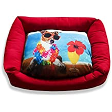 DAGOSTINO HOME - Cama cuna tridimensional para mascotas BEACH PARTY - M - 40X50