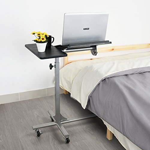 Regolabile laptop desk tabella coavas 5 altezza regolabile robusto letto divano notebook computer desk (nero)