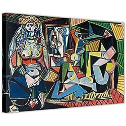 CANVAS IT UP Les Femmes D 'Alger (Version O) by Pablo Picasso Nachdruck auf gerahmtes Leinwandbild, Kunstdruck Home Bilder Größe: 101,6x 76,2cm (101x 76cm)