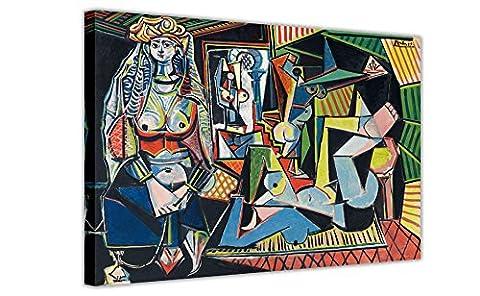 Les Femmes D 'Alger (Version oder) von Pablo Picasso reimprimirá auf Leinwand gerahmt Kunst von der Wand Drucke Home Bilder Modern 06- A0 - 40
