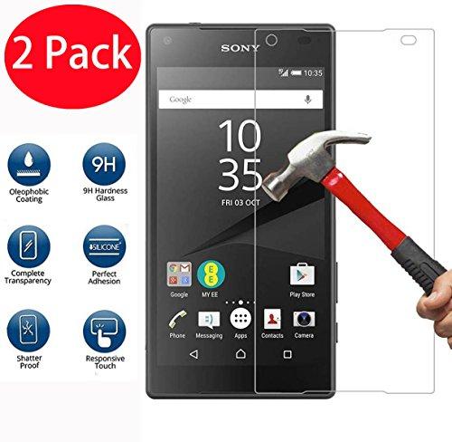 2 Pack - Sony Xperia Z5 Premium Panzerglas, FoneExpert® Gehärtetem Schutzfolie Glasfolie Hartglas Panzerfolie Displayschutzfolie für Sony Xperia Z5 Premium