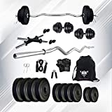 SPORTO FITNESS 10kg Combo 4-WB Home Gym and Fitness Kit Home Gym