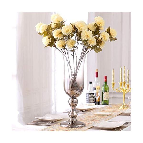 Bling-Bling – Funda de Seda para decoración del hogar, Hotel, Boda, Oficina, diseño de Flores de Dalia Artificial