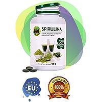 Spirulina con gran cantidad de nutrientes y proteínas vegetales - Suplemento alimenticio a base de alga espirulina apto para veganos - Proporciona energía y vitalidad - 360 comprimidos