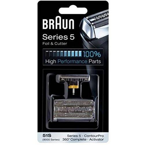 Braun 8000 Serie (Braun Scherblatt Series 5/51S 360° Complete/ Activator für Rasierer Series 590CC, 570CC, 560, 550, 510, 360° Complete, Activator, 8000 Series/Activator)