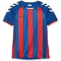 Hummel niña Core Striped SS Jersey Camiseta, niña, Color True Blue/True Red, tamaño 140-152