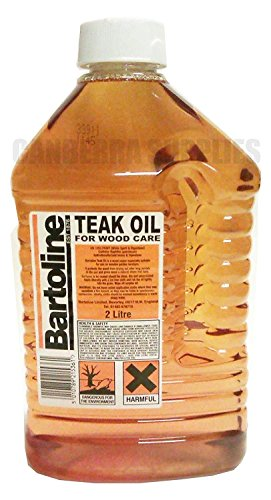 Bartoline Teak Oil 2L by Bartoline - Wood protector Oil - Protects Garden furniture, Wooden kitchen units Worktops etc