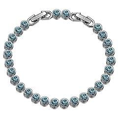 Idea Regalo - Susan Y regali san valentino per lei braccialetti donna bracciale tennis cristalli da swarovski regali natale originali idee regalo natale bracciale idee regalo donna regali natale donna idee regalo