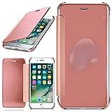 MoEx Apple iPhone 7/8 Plus | Hülle Transparent TPU [OneFlow Void Cover] Dünne Schutzhülle Rosé-Gold Handyhülle für iPhone 7/8 + Plus Case Ultra-Slim Handy-Tasche mit Sicht-Fenster