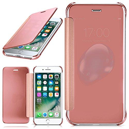 iPhone 7 Hülle Transparent TPU [OneFlow Void Cover] Dünne Schutzhülle Rosé-Gold Handyhülle für iPhone 7 Case Ultra-Slim Handy-Tasche mit Sicht-Fenster (Handy-tasche Extra)