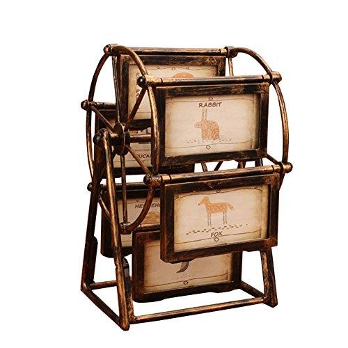 Photo Frame Ferris Wheel Fotorahmen-Set, Kreative Rotierenden WindmüHle Ornamente, Retro-6,5-Zoll-Foto-Fotorahmen, Mini-PersöNlichkeit Kleine Einrichtung Nanayaya