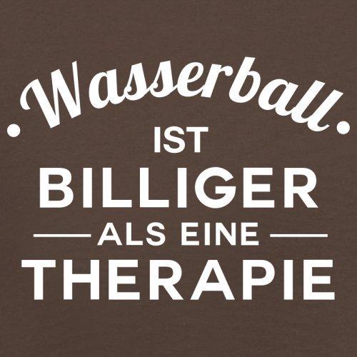 Wasserball ist billiger als eine Therapie - Herren T-Shirt - 13 Farben Schokobraun