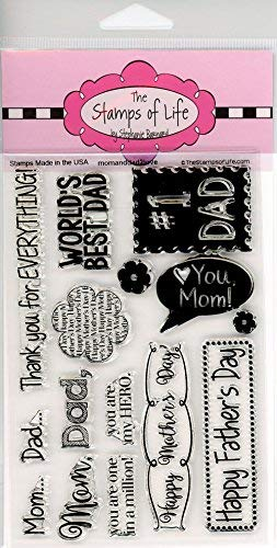 Die Briefmarken Of Life momanddad2love Briefmarken für Karte machen und Scrapbooking von Stephanie Barnard-Väter Tag und Mütter Tag (Der Tag Der Mutter Handwerk Einfach)