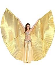 Dance Fairy egalo de Halloween Arte Danza del vientre Isis Alas espectáculos( Sin otros Accesorios )