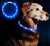 LED Hundehalsband Blinkende Sicherheit Hundehalsband für Hund und Katzen 70CM